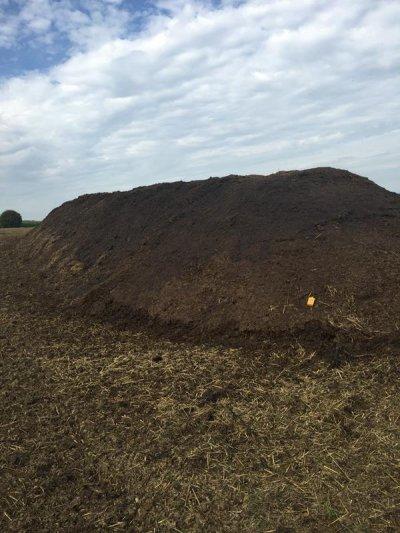 Fertig abgedeckter MC-Kompost